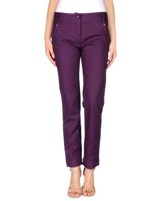 Class Roberto Cavalli Purple Casual Pants