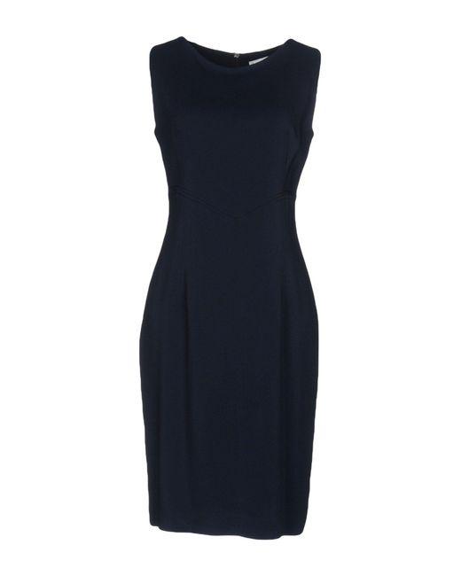 Amorimiei Paolo Petrone - Blue Knee-length Dress - Lyst