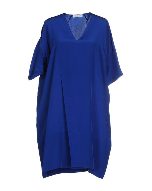 CoSTUME NATIONAL - Blue Short Dresses - Lyst