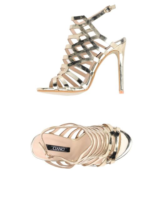Cianci - Metallic Sandals - Lyst