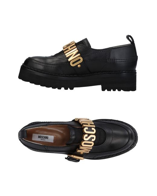 Moschino - Black Loafer - Lyst