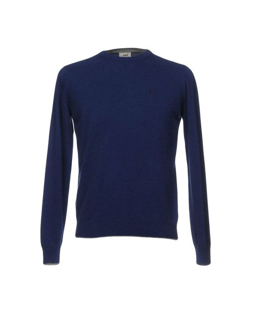 Henry Cotton's - Blue Jumper for Men - Lyst