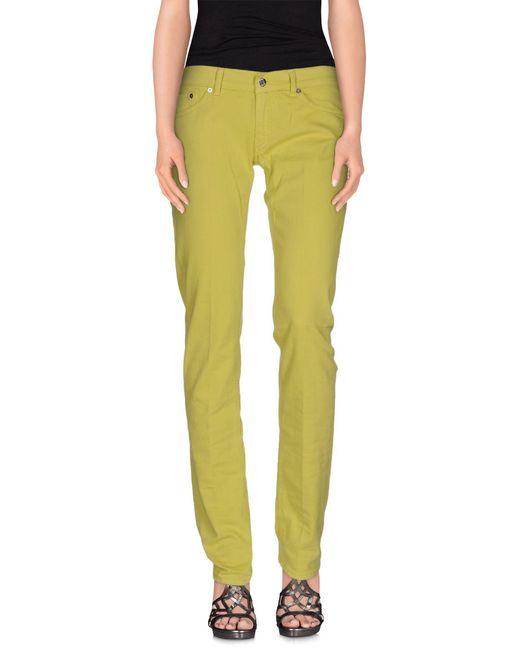 Dondup | Green Denim Trousers | Lyst