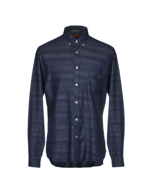 Missoni - Blue Denim Shirt for Men - Lyst