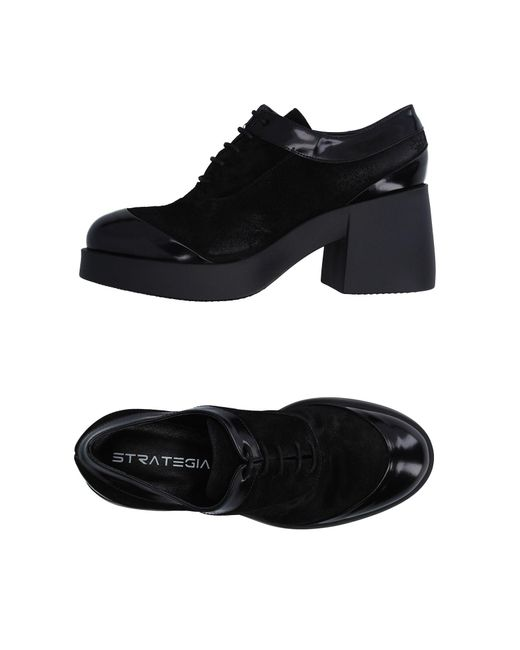 Strategia - Black Lace-up Shoes - Lyst