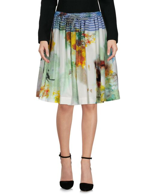 Vivienne Westwood Anglomania - Green Knee Length Skirt - Lyst