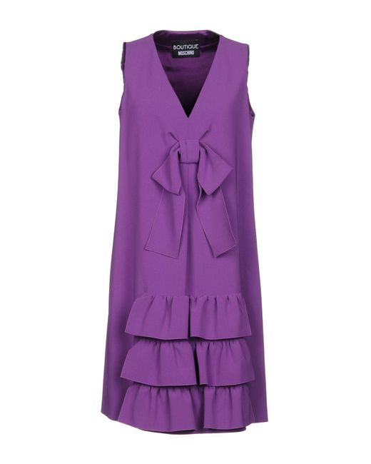 Boutique Moschino - Purple Short Dress - Lyst