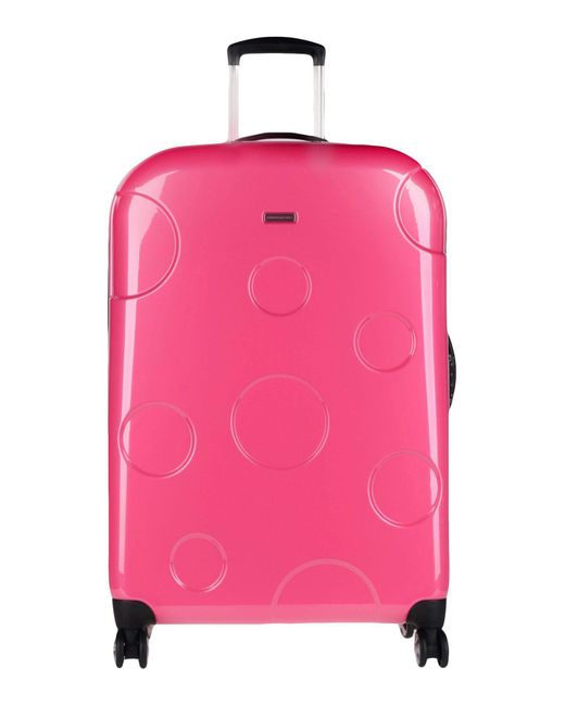 Mandarina Duck - Pink Wheeled Luggage - Lyst