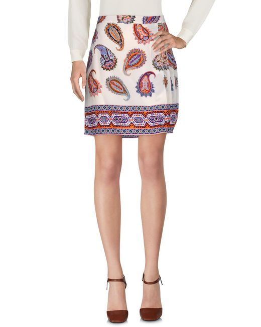 Tory Burch - Natural Mini Skirt - Lyst