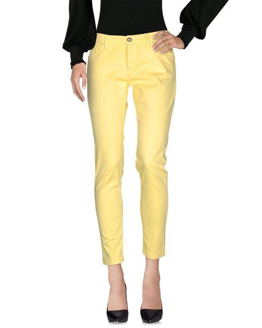Massimo Rebecchi - Yellow Casual Pants - Lyst