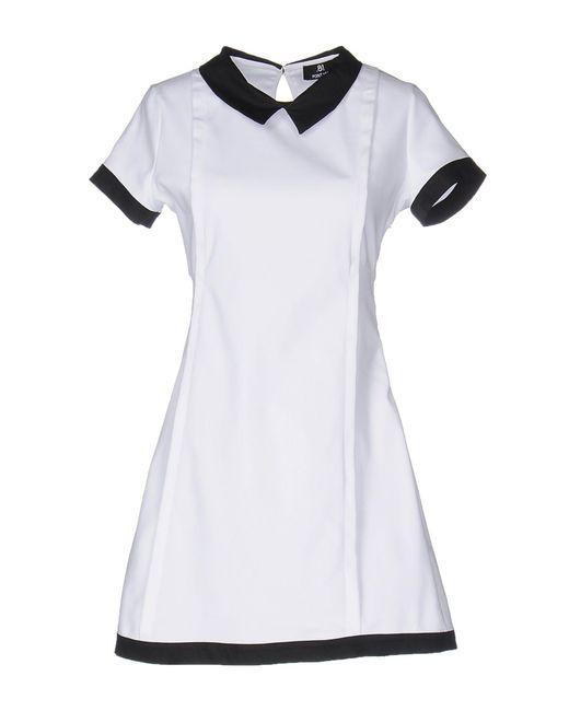 .8! Point Huit | White Short Dress | Lyst