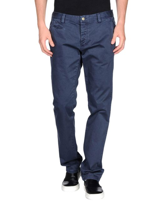 AT.P.CO - Blue Casual Trouser for Men - Lyst