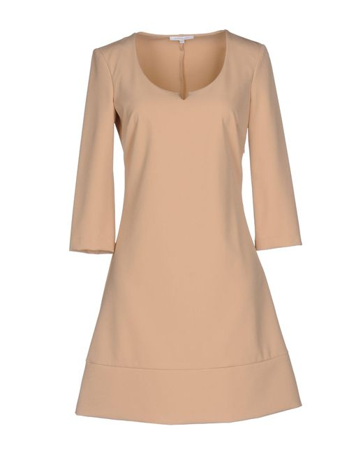 Patrizia Pepe - Natural Short Dress - Lyst