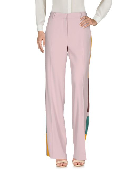 MSGM   Pink Casual Trouser   Lyst