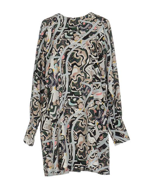 MSGM - Green Short Dress - Lyst