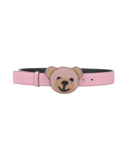 Moschino - Pink Belt - Lyst