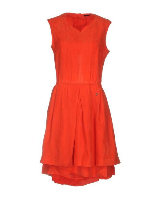 5preview - Red Short Dress - Lyst