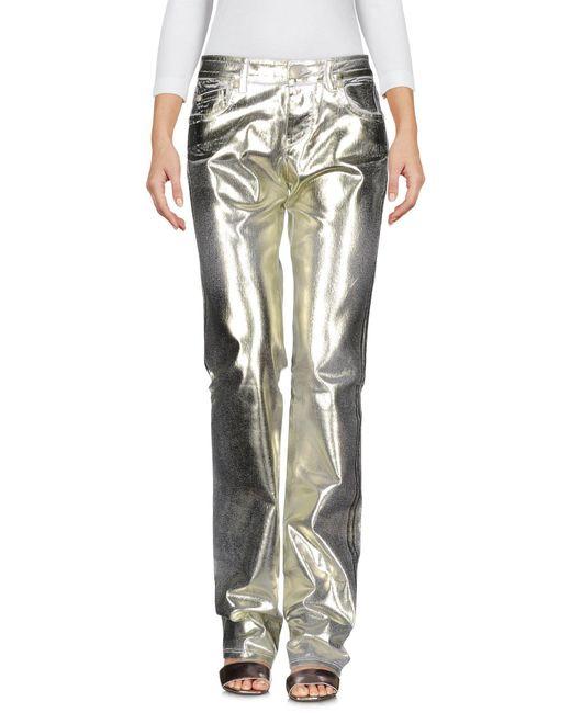 Blumarine | Metallic Denim Trousers | Lyst