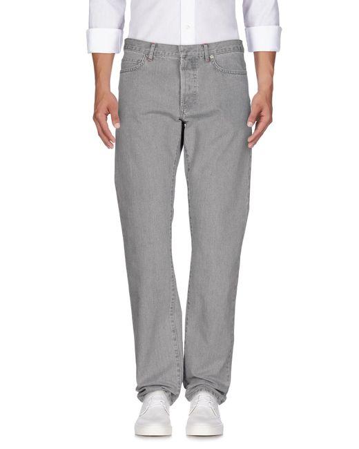 Dior Homme - Gray Denim Trousers for Men - Lyst