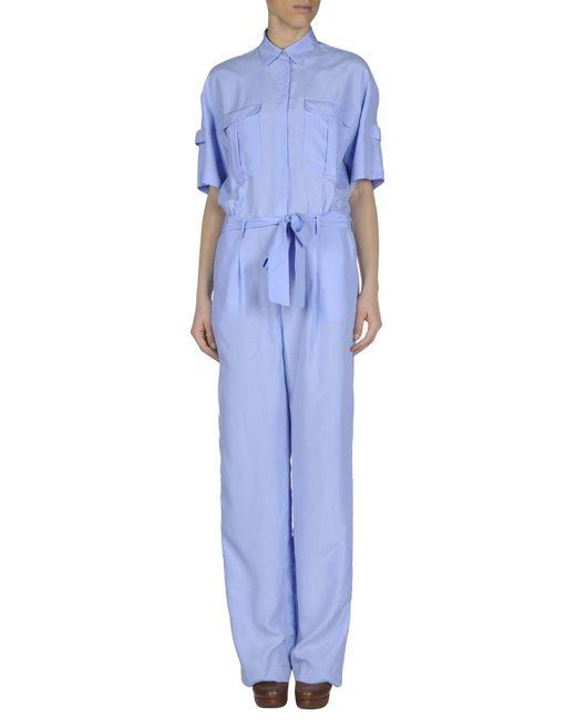 MSGM - Blue Jumpsuit - Lyst