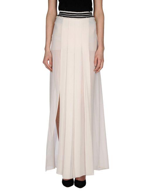 Pinko - White Long Skirt - Lyst