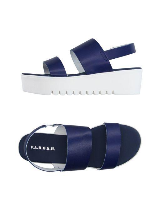 P.A.R.O.S.H. - Blue Sandals - Lyst