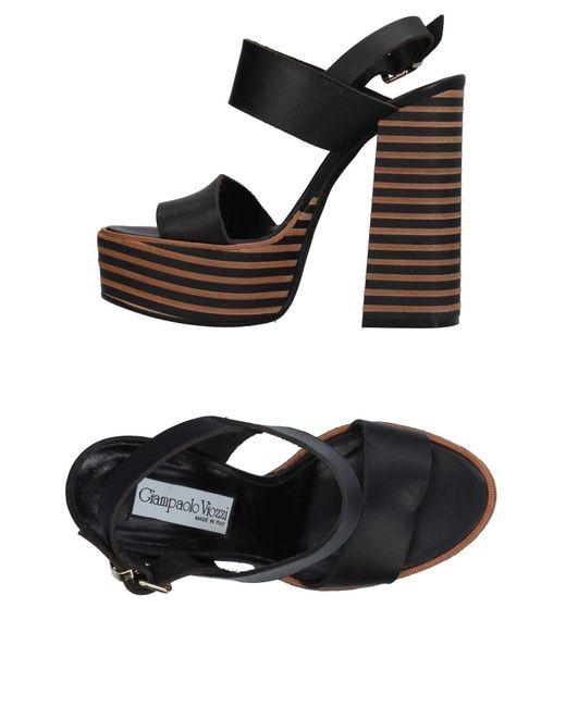 Giampaolo Viozzi - Black Sandals - Lyst