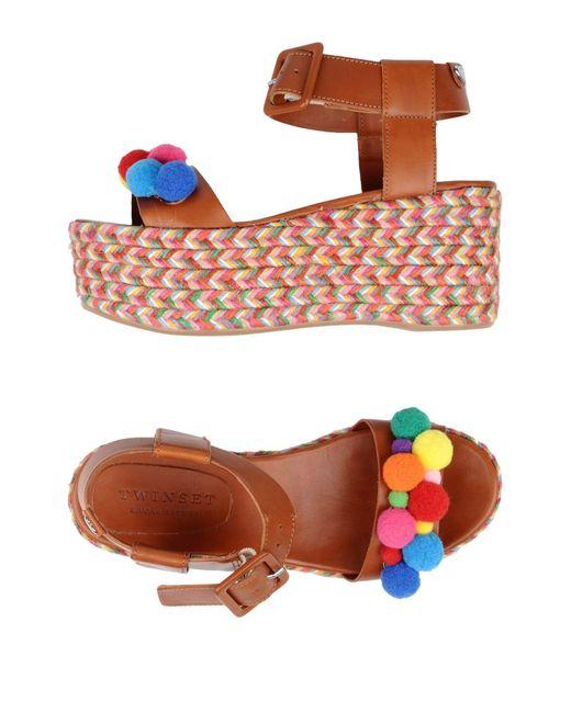 Twin Set   Multicolor Sandals   Lyst