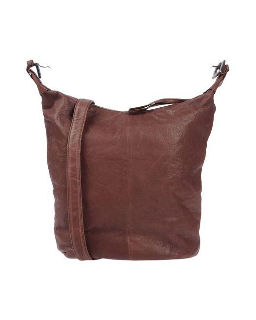 SELECTED - Brown Cross-body Bag - Lyst