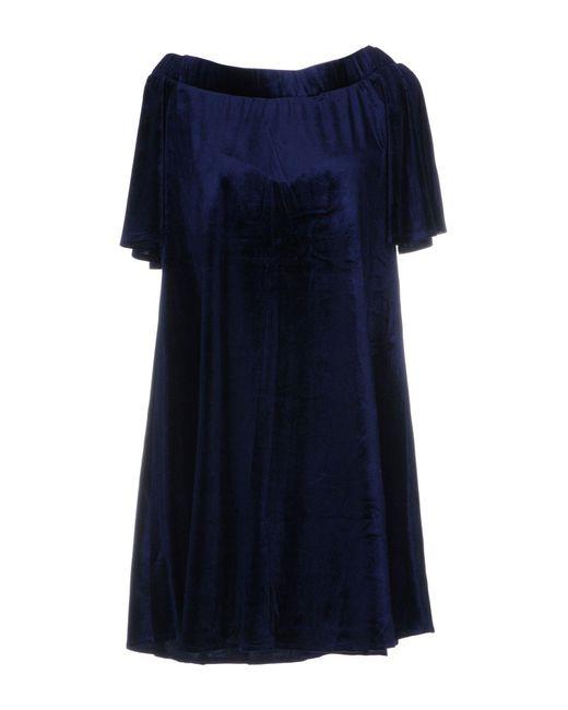 Cutie - Blue Short Dress - Lyst