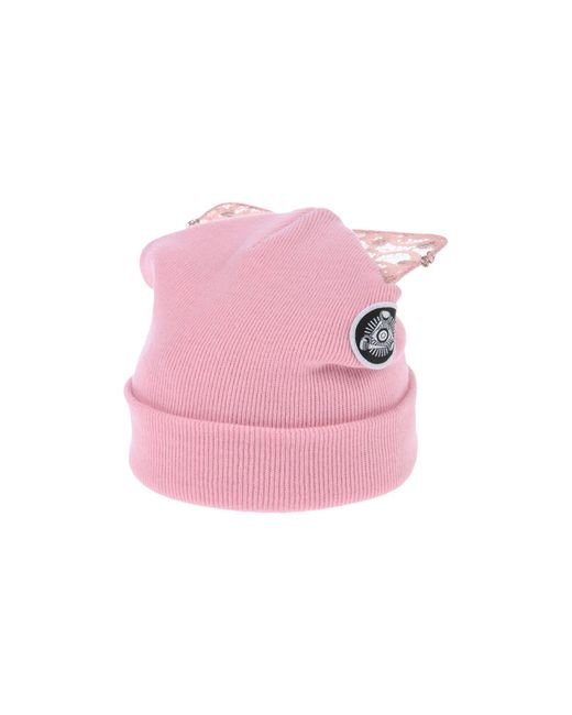 Silver Spoon Attire - Pink Bad Kitty Embellished Beanie With Cat Ears - Lyst
