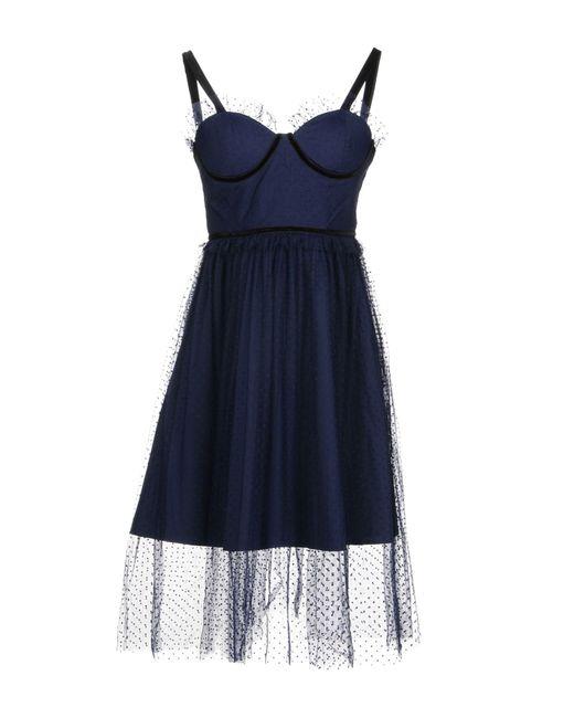 Lost Ink - Blue Short Dress - Lyst