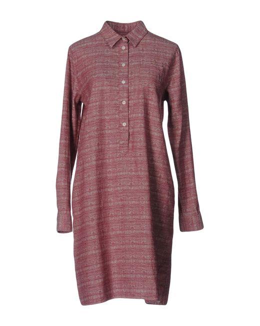YMC | Blue Short Dress | Lyst