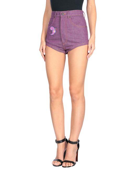 Marc Jacobs - Purple Denim Shorts - Lyst