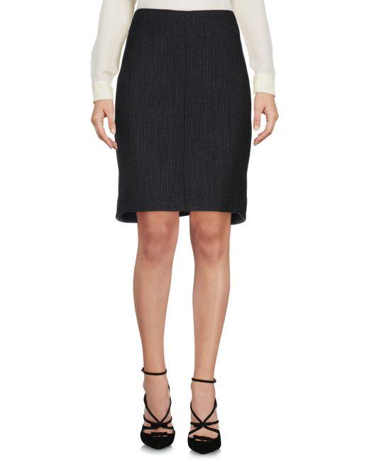Teresa Dainelli   Black Knee Length Skirt   Lyst