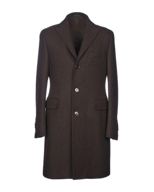 Tagliatore - Brown Coat for Men - Lyst