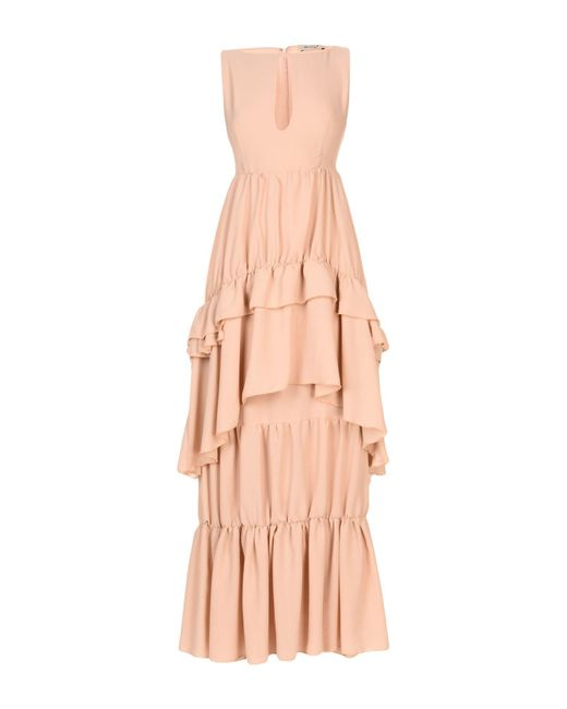Ki6? Who Are You? - Natural Long Dress - Lyst