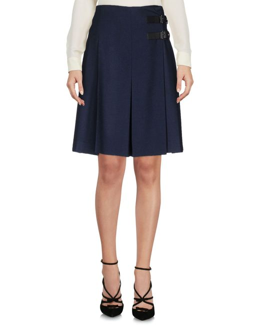 RED Valentino | Blue Knee Length Skirt | Lyst