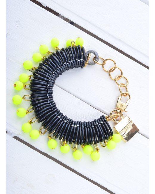Longshaw Ward   Bracelet In Black/neon Yellow   Lyst