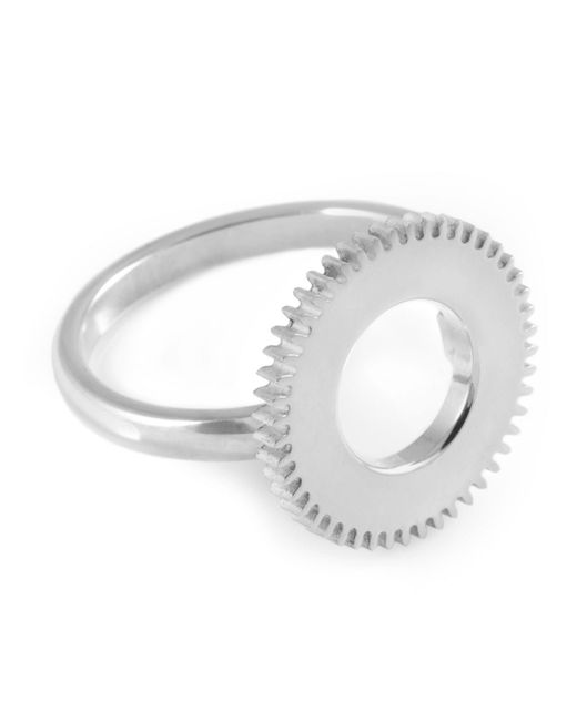 Clarice Price Thomas - Metallic Silver Centre Of Time Ring - Lyst