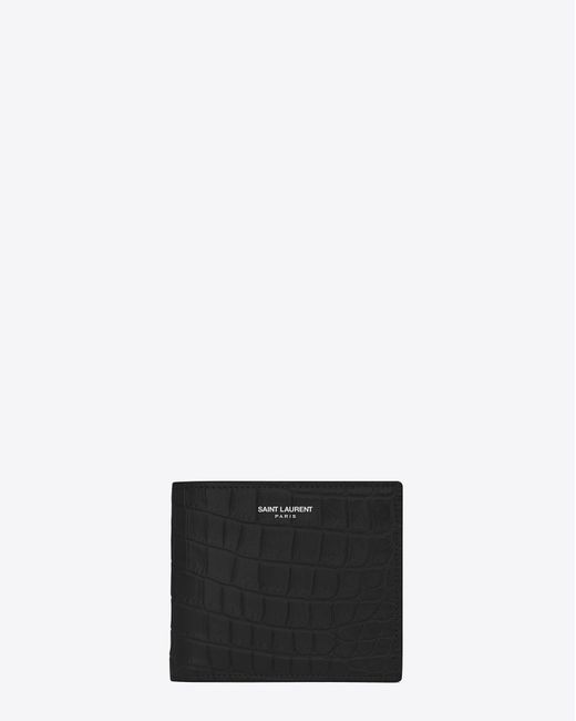 Saint Laurent | Classic Paris East/west Wallet In Black Crocodile Embossed Leather for Men | Lyst