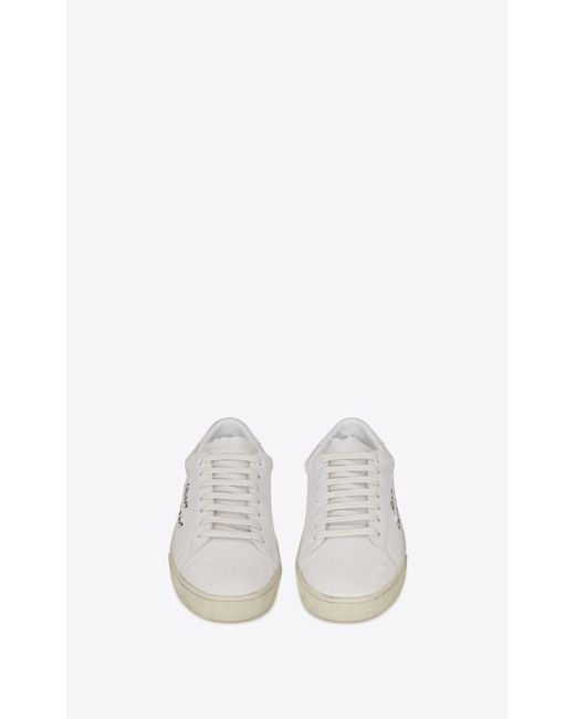 bb1706a2c0c4 ... Saint Laurent - Multicolor Court Classic Sl 06 Embroidered Sneakers In  Fabric And Leather ...
