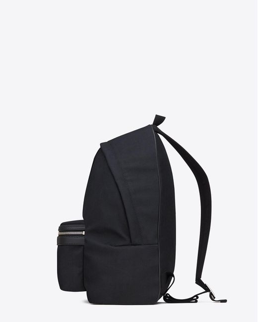 Saint Laurent - Blue Sac à dos city en toile de nylon et cuir for Men - Lyst