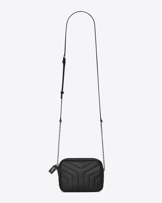 "Saint Laurent | Classic Toy Monogram Bowling Bag In Black ""y"" Matelassé Leather 
