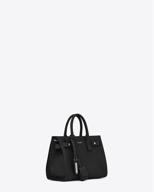 Saint Laurent - Nano Sac De Jour Souple Bag In Black - Lyst
