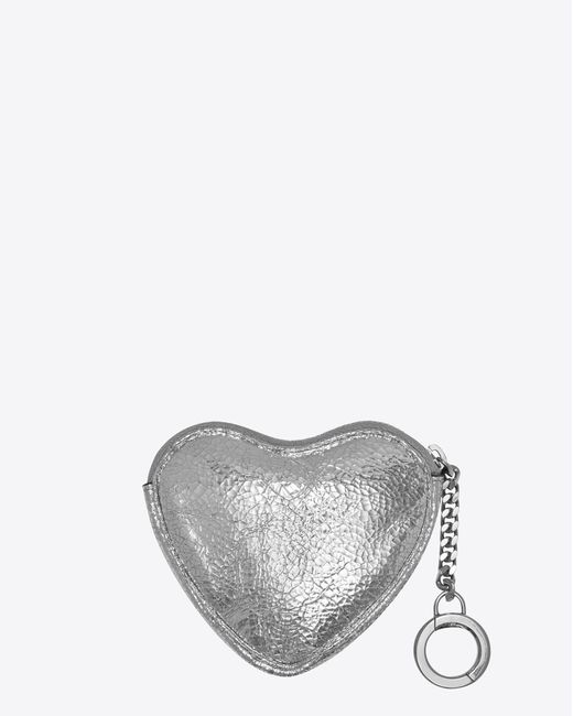 Cheap Perfect Prices Cheap Price Love key holder case - Metallic Saint Laurent New Arrival Sale Online For Sale Cheap Online Cheap Sale Cheapest Price YW5G6Hz8f