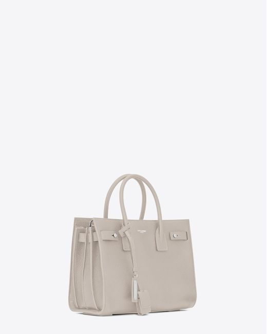 Saint Laurent - White Baby Sac De Jour Souple In Ivory Grained Leather - Lyst