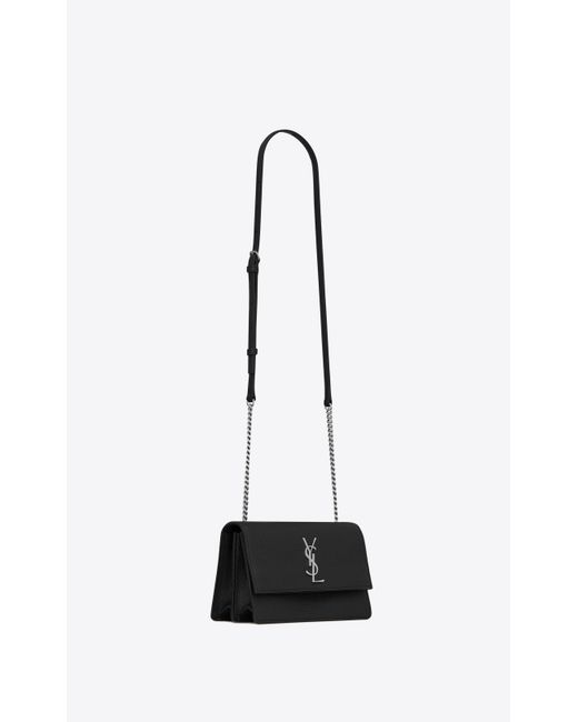 ... Saint Laurent - Black Sunset Small In Grained Leather - Lyst ... f09459544a336