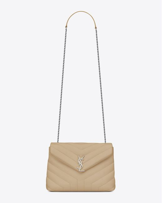 Saint Laurent | Multicolor Small Loulou Chain Bag In Powder | Lyst