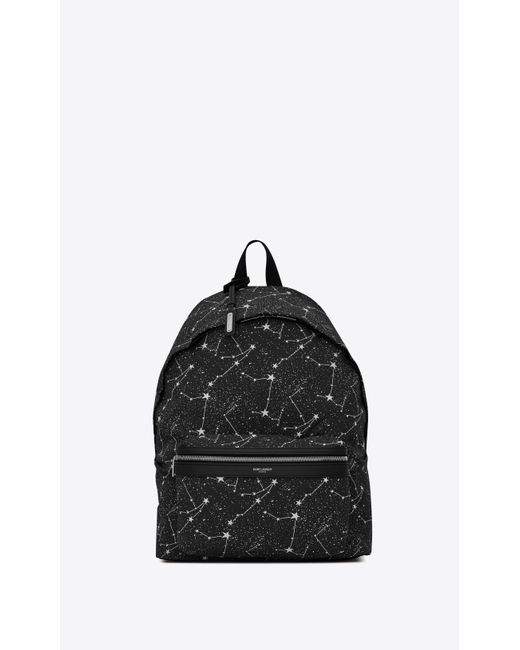 Saint Laurent - Black City Sac à dos en toile imprimée constellation for Men - Lyst